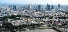 Warszawa: z lotu ptaka. Panorama stolicy Polski