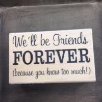 Stempel We ll be friends forever 8 x 5 cm - Kimya verpakkingen