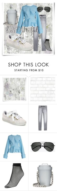 """""""i want everything... ;)"""" by chambiewonder ❤ liked on Polyvore featuring Designers Guild, Tempaper, Puma, Karl Lagerfeld, Marques'Almeida, Yves Saint Laurent, Witchery and Moschino"""