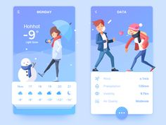 30 Cool Weather Mobile App Designs for Your Inspiration Design Web Design Ledger Design Web, Design Sites, App Ui Design, Interface Design, User Interface, Graphic Design, Layout Design, Mobile App Design, Mobile App Ui