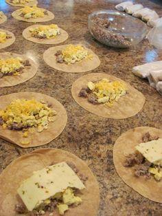 Back-to-School Breakfast Burritos for the freezer