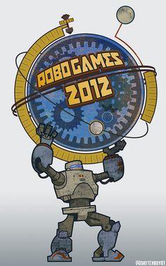 RoboGames 2012 artwork by Chris Kawagiwa