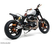 Harley Dyna Tracker by Kraus Moto. http://www.bikebound.com/2015/12/14/dyna-street-tracker-by-kraus-motor-co/