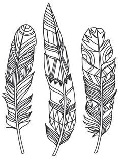 Ideas Tattoo Feather Color Urban Threads For 2019 Urban Threads, Feather Painting, Feather Art, Tattoo Feather, Feather Design, Feather Stencil, Paper Embroidery, Embroidery Patterns, Embroidery Stitches