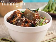 Slow cooking gives this dish that fall-off-the-bone tenderness, Red Wine Adobong Tadyang, Red Wine Adobong Tadyang recipe Easy Filipino Recipes, Asian Recipes, Filipino Food, Meat Recipes, Cooking Recipes, Slow Cooking, Nutrition Food List, Lamb Ribs, Philippines Food
