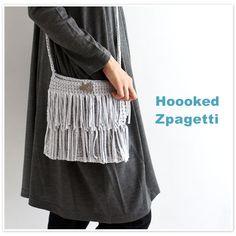 【Hooked Zpagetti フックドゥ ズパゲッティ】2段 フリンジ  ショルダー バッグ  (zp2000)