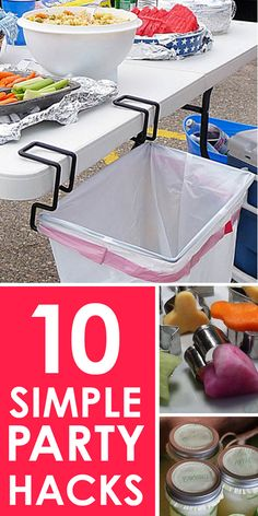 Love these simple Party Hacks! Whether you host a lot of parties, or just want to invite a few friends over for appetizers and drinks, make your party memorable with these simple hacks! These fun party ideas can be used when camping, a picnic at the park, Party Hacks, Ideas Party, Patio Party Ideas, Bbq Ideas, Picnic Ideas, Grad Parties, Birthday Parties, Bachelorette Parties, Birthday Ideas