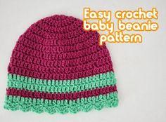 Crochet Patrón de Regalías: Bebé de la gorrita TEJIDA