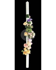 Lumanari cununie cu trandafiri si hipericum LC98 Candles, Flowers, Florals, Candy, Candle Sticks, Flower, Bloemen, Candle