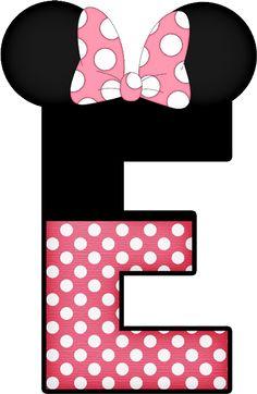 Mickey e Minnie - Minus Arte Do Mickey Mouse, Mickey Mouse Letters, Mickey Mouse Birthday, Mickey Minnie Mouse, Disney Letters, Disney Alphabet, Minnie Png, Alphabet And Numbers, Alphabet Letters