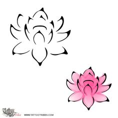 Lotus flower plain and colored - like this design essential-lotus-tattoo