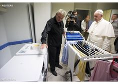 On Thursday, Pope Francis made a surprise visit to the new Jesuit homeless shelter, 'Gift of Mercy', just around the corner from the Vatican.