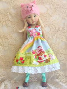 Dianna Effner Little Darling My Meadow Strawberry Shortcake Cat Dress Outfit Hat | eBay