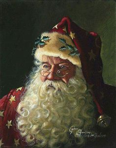 Dean Morrissey - Portrait of Father Christmas: ART Noel Christmas, Father Christmas, Vintage Christmas Cards, Christmas Pictures, Winter Christmas, Christmas Decor, Primitive Christmas, Country Christmas, English Christmas