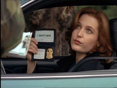 Special Agent Dana Scully - Giving no fricks since 1993. The X-Files.