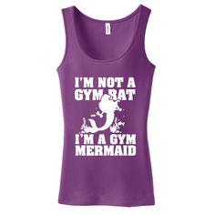 I'm Not A Gym Rat, I'm A Gym Mermaid Ladies Tank Top Small Plum Purple