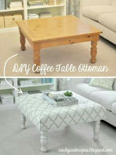 Upcycle furniture with a little paint and fabric