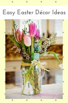 Easter décor ideas - make use of flowers.
