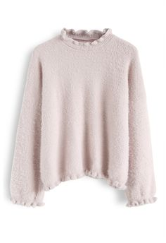 Hand-Knit Puff Sleeves Sweater in Cream - TOPS - Retro, Indie and Unique Fashion Trendy Outfits, Winter Outfits, Cute Outfits, Fashion Outfits, Vintage Tops, Unique Fashion, Fashion Looks, Indie, Pullover