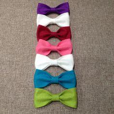 Felt hair bows or bow ties on clips