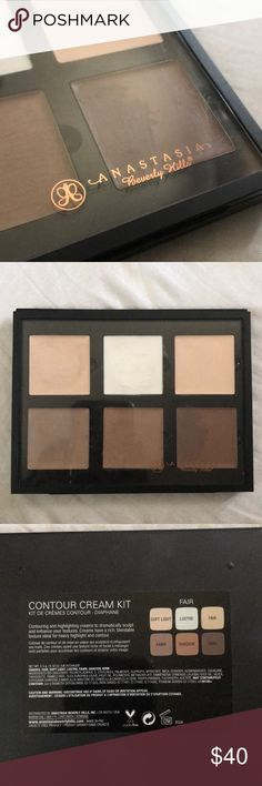 Anastasia Contour cream kit 100% Authentic. Color is fair. Semi used. Honestly, I bought this for myself but I suck at doing my make up. I really just bought it to practice contouring but no luck. I'm better of with powder or no make up. Lol.  -no box included.  -purchased in 2018. Anastasia Beverly Hills Makeup Foundation