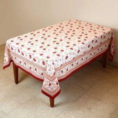 Tablecloth Rectangular 152 X 228 Indian Decor Spring Floral Cotton: Amazon.co.uk: Kitchen & Home
