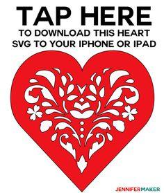 How to Upload SVG Files to Cricut Design Space App on iPhone/iPad - Jennifer Maker Cricut Air, Cricut Vinyl, Easy Diy Valentine's Day Cards, Cricut Svg Files Free, Cricut Tutorials, Cricut Ideas, Heart Projects, Cricut Craft Room, Cricut Explore Air