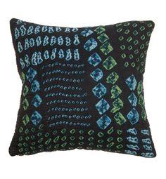#Silk #Cushioncover #Bandhani #Kantha