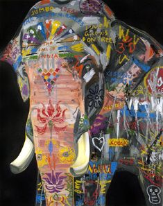 The Elephant, 2012 oil on canvas, 60 x 48 inches - Erik Olson Indian Elephant, Elephant Love, Elephant Art, Illustrations, Illustration Art, Travel Photographie, Bear Art, Arte Pop, Global Art