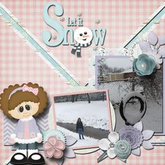 Snowy memories.  Kit used: Let's Build a Snowman by Wimpychompers available at http://store.gingerscraps.net/Let-s-Build-a-Snowman.html  Template by Connie Prince.