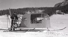 Snow planes where used for winter travel in the Park in the '30s and '40s.