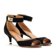 Givenchy 620,00 E. SANDALI IN SUEDE seen @ www.mytheresa.com