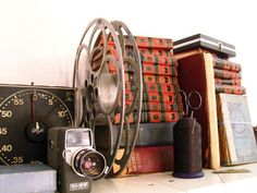 And of course, after you use all the film, you'll want to save and reuse the film reels, as they make for excellent vintage-style decorative element.