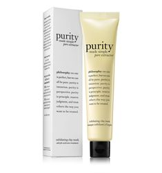 reveal your purest skin with new purity made simple pore extractor clay mask! use twice a week for a week and this powerful detoxifying mask will leave skin exfoliated and virtually blackhead-free.