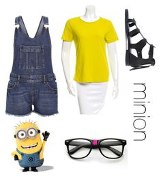 """""""minion"""" by l00pyl0llypop on Polyvore featuring River Island and TradeMark"""