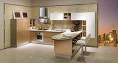 2014 Acrylic Kitchen Cabinet OPPEIN New Home Furniture- OP14-108