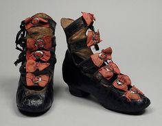 Girl's Boots | United States | 1880 | kid leather | Los Angeles County Museum of Art | Museum #: 35.16.1a-b
