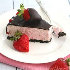 No-Bake Chocolate Covered Strawberry Cheesecake