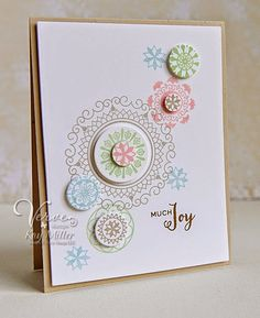 Card by Kay Miller using Peaceful Medallions (releasing from Verve. Pretty Cards, Cute Cards, Xmas Cards, Greeting Cards, Scrapbook Cards, Scrapbooking, Stamping Up Cards, Card Sketches, Paper Cards