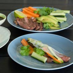 Asiatiske rispapirruller med grønt Fodmap, Cakes And More, Avocado, Recipies, Favorite Recipes, Beef, Ethnic Recipes, Salt, Sweets
