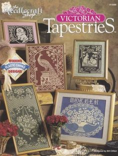 Victorian-Tapestries-Plastic-Canvas-Pattern-Booklet-TNS-913308-Bunny-Cat-amp-More