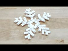Watch how to build this beautiful LEGO Snowflake! Make your own collection of colorful snowflakes! Lego Christmas, Christmas Books, Christmas Themes, Vintage Christmas, Christmas Decorations, Lego Ornaments, Snowflake Ornaments, Snowflakes, Kids Ornament