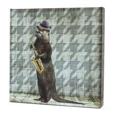 Animal Band: Oliver Otter Print by artist Matthew Lew. MatthewLew.com