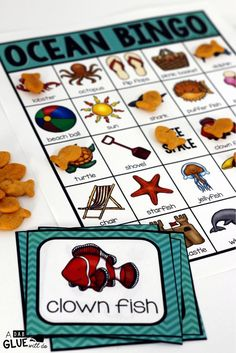 BINGO Ocean is a fun way to review learning about the ocean. This is also perfect for end of year/summer celebrations. This game can be played either whole group or in small groups. Each BINGO board is unique.