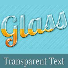 Create a Transparent Text in Photoshop psd-dude.com Tutorials