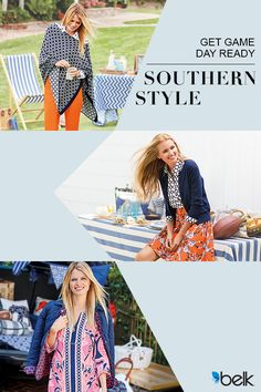 Saturdays in the South are about more than just a game - it's an event that brings friends and family together and we know a school tee just won't do. Browse hundreds of colorful print dresses, jackets, tops and pants that will take you from tailgate to dinner out. Get game day ready with Crown & Ivy™ only at Belk.
