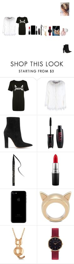 """""""Sans titre #286"""" by dayana1411 ❤ liked on Polyvore featuring Boohoo, Gianvito Rossi, Too Faced Cosmetics, MAC Cosmetics, STELLA McCARTNEY, Allurez and Abbott Lyon"""
