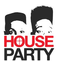 House Party T-shirt ❤ liked on Polyvore featuring tops, t-shirts, logo, holiday party tops, party tops, logo tees, logo top and logo t shirts