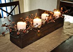 the everday: Fall Centerpiece with DIY Instructions me & j. the everday: Fall Centerpiece with DIY Instructions Thanksgiving Decorations, Seasonal Decor, Christmas Decorations, Fall Crafts, Holiday Crafts, Holiday Decor, Fall Home Decor, Autumn Home, Diy Natal