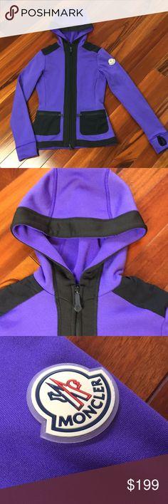 Moncler fleece sweatshirt Moncler fleece sweatshirt. Color purple. Size SX. Excellent condition Moncler Tops Sweatshirts & Hoodies